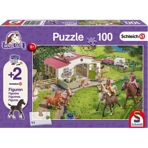 Horse Ride Into The Countryside Jigsaw With Two Schleich Figures (100Pc)
