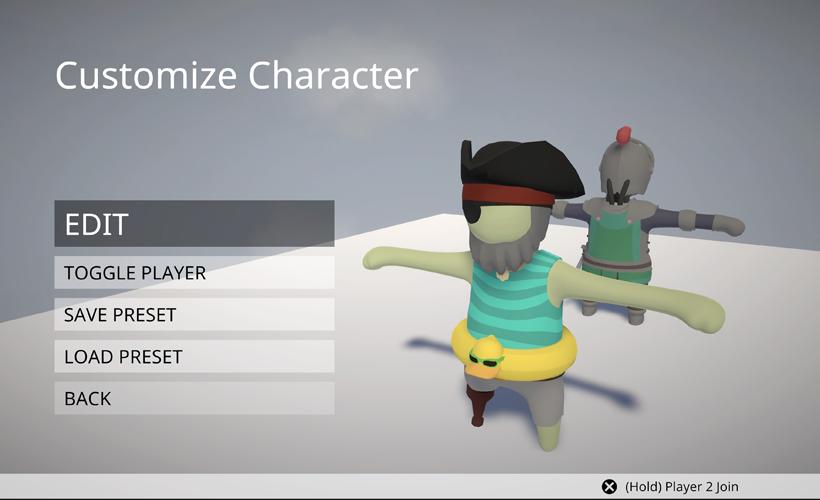 Human Fall Flat character customiser