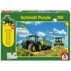 John Deere: Tractor 7310R With 8600I Harvester Jigsaw With Siku (100Pc)