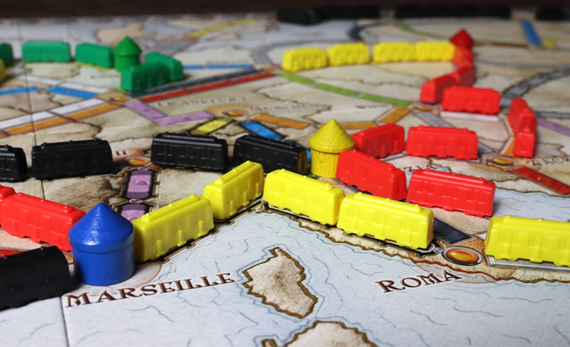 Ticket To Ride 1912 Expansion Set Up