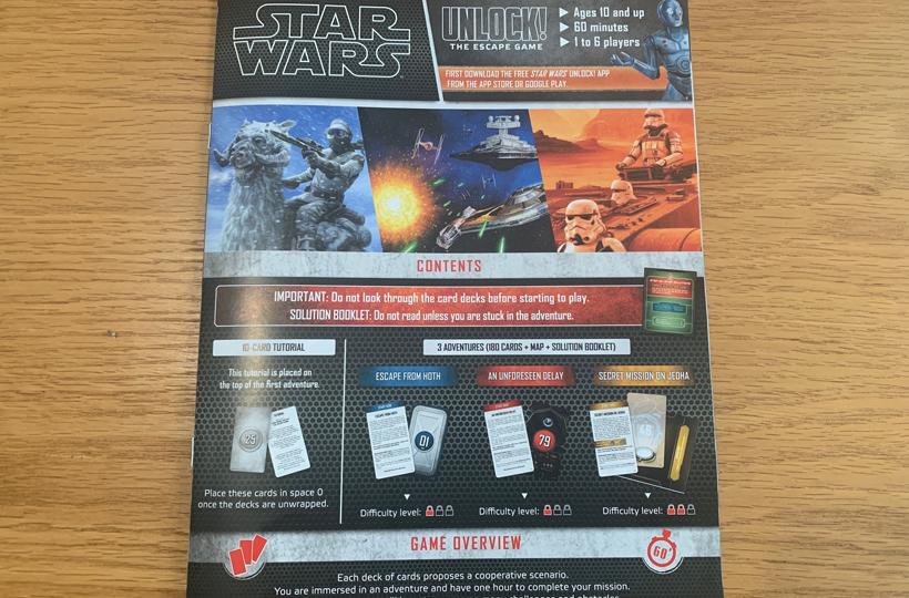 Unlock star wars book
