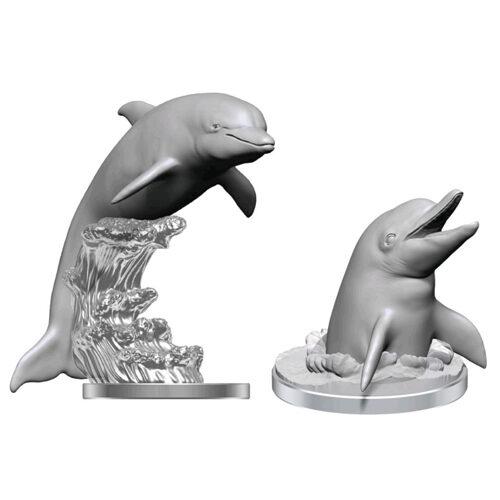 WizKids Deep Cuts Unpainted Miniatures (Wave 14): Dolphins