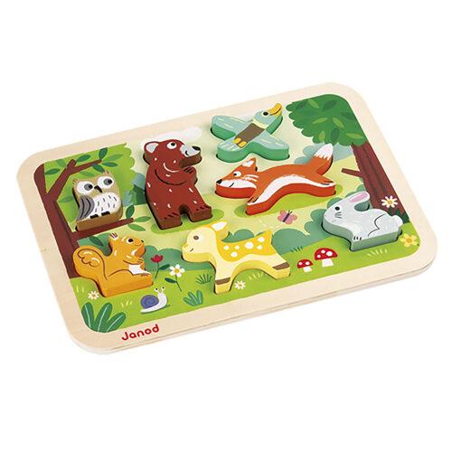 Wood 7 Pieces Children's Wooden Jigsaw Puzzle