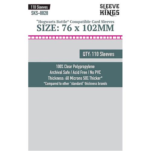 110 x Hogwarts Battle Large Sleeves (76mm x 102mm)