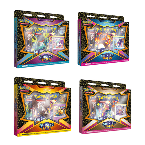 Pokemon TCG: Shining Fates Mad Party Pin Collection - 4 Set