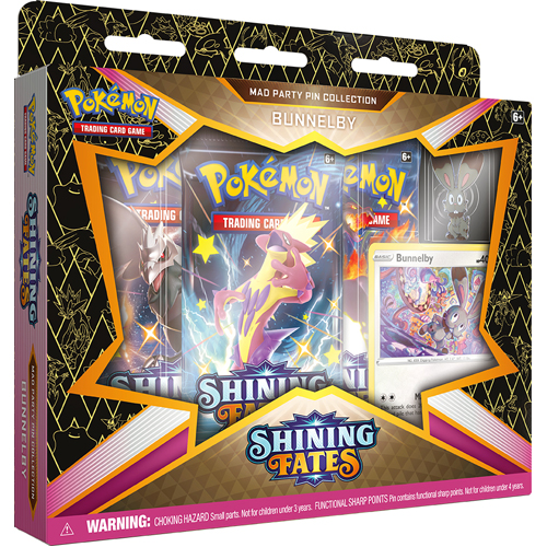 Pokemon TCG: Shining Fates Mad Party Pin Collection - Bunnelby