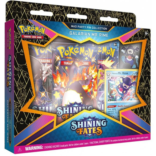 Pokemon TCG: Shining Fates Mad Party Pin Collection - Galarian Mr. Rime
