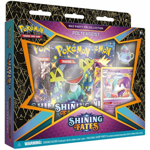 Pokemon TCG: Shining Fates Mad Party Pin Collection - Polteageist