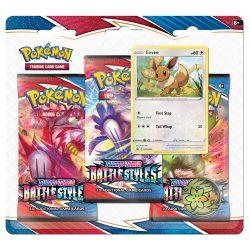 Pokemon TCG: Sword & Shield  Battle Styles 3-Pack Booster Blister - Eevee