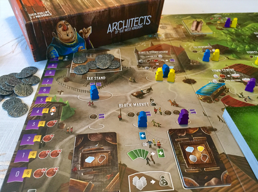 Architects of the West Kingdom box and board