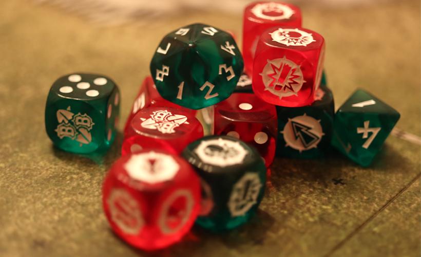 Blood bowl dice