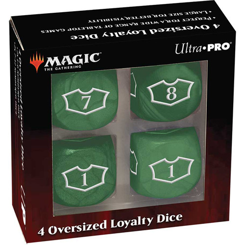MTG Deluxe 22MM Forest Loyalty Dice Set with 7-12