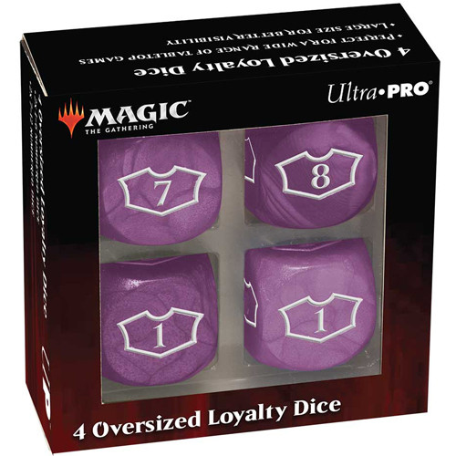 MTG Deluxe 22MM Swamp Loyalty Dice Set with 7-12
