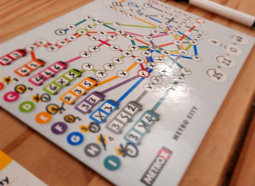 Metro X score sheet