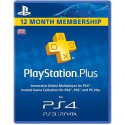 Playstation Plus 12 Month Membership Card