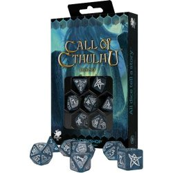 Q-Workshop Call of Cthulhu Abyssal & White Dice Set