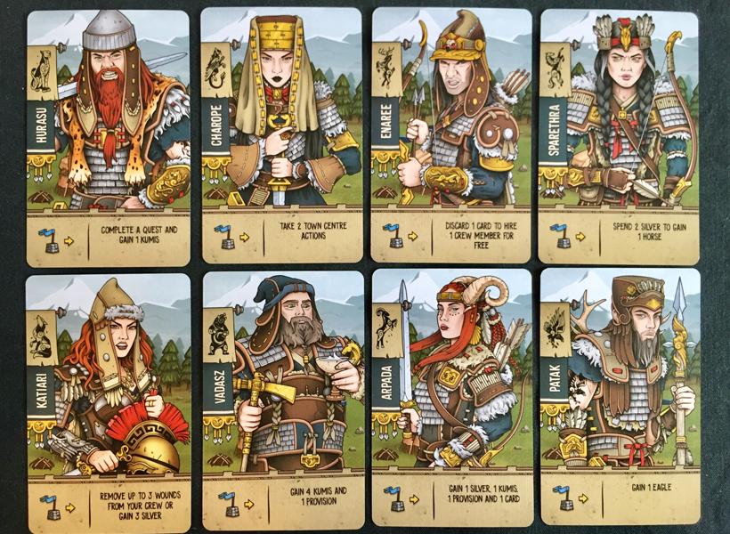 Raiders of Scythia 8 heros