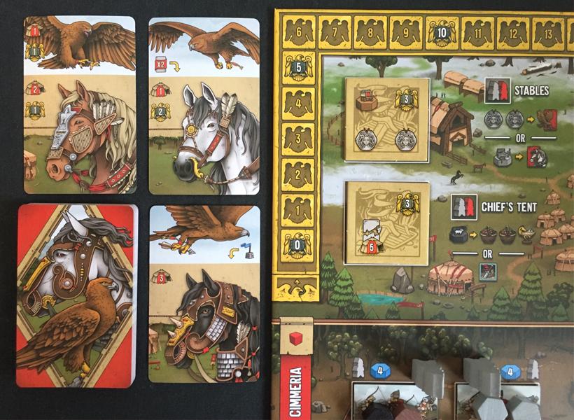 Raiders of Scythia Animal cards
