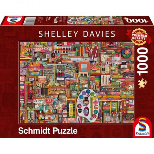 Shelley Davies: Vintage Art Supplies (1000 pieces)
