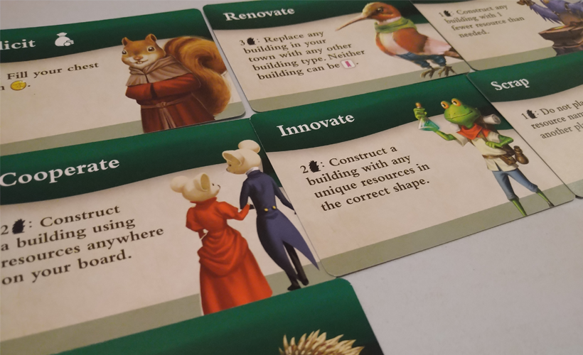 Tiny Towns Villagers Innovate Card