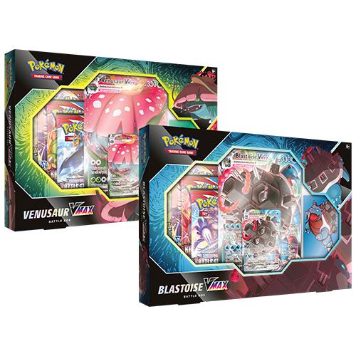 Pokemon TCG: Venusaur/Blastoise VMAX Battle Box - 2 Set