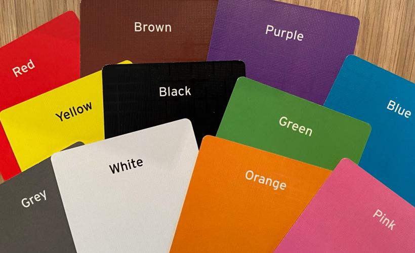 disney colourbrain colour cards