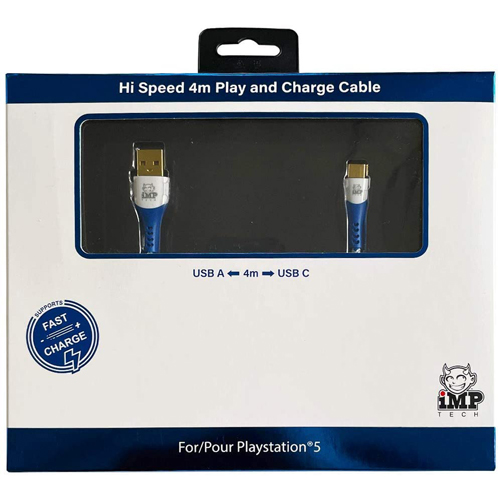 IMP (4m) Braided Fast Charge & Play Cable - PS5