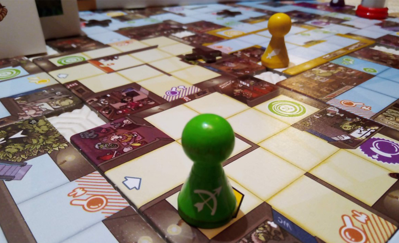 Magic maze board