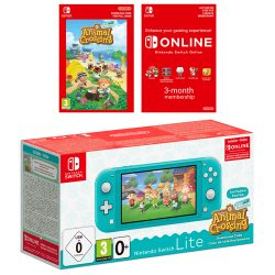 Nintendo Switch Lite Turquoise Bundle with Animal Crossing: New Horizons and 3 Month Nintendo Switch Online Membership