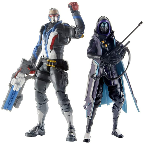 Overwatch Ultimates - Ana and Soldier:76 Dual Pack Action Figure 6in