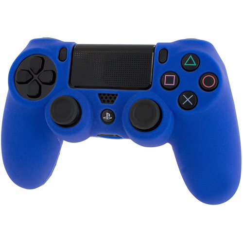 Pro Soft Silicone Protective Cover with Ribbed Handle Grip [Blue] - PS4