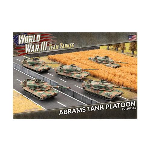 World War III: Team Yankee - M1A1 Abrams Tank Platoon (x5 Plastic)