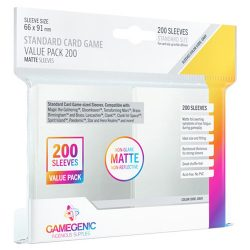 Gamegenic Standard Card Game Value Pack Matte Sleeves - Clear (200)