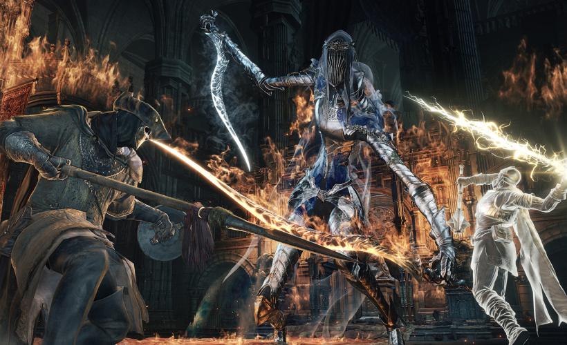 dark souls 3 boss battle