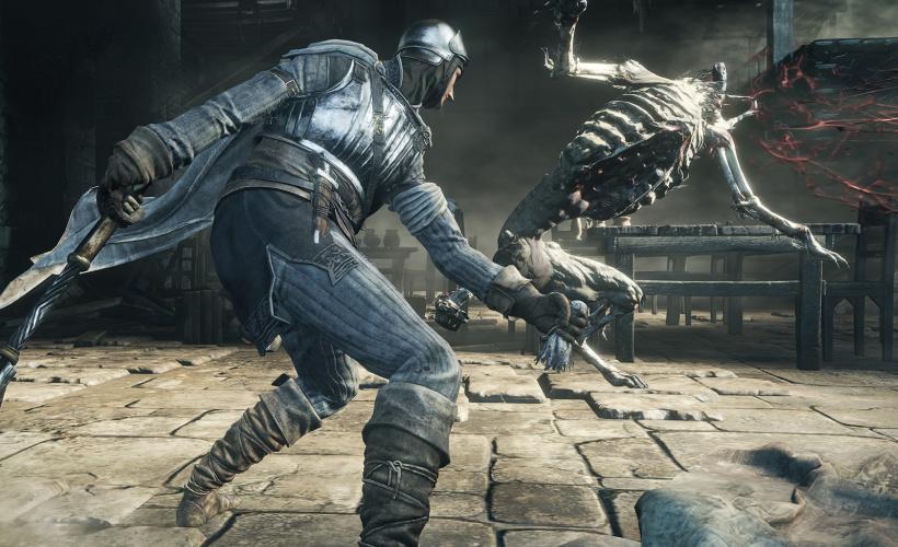 dark souls 3 combat KO