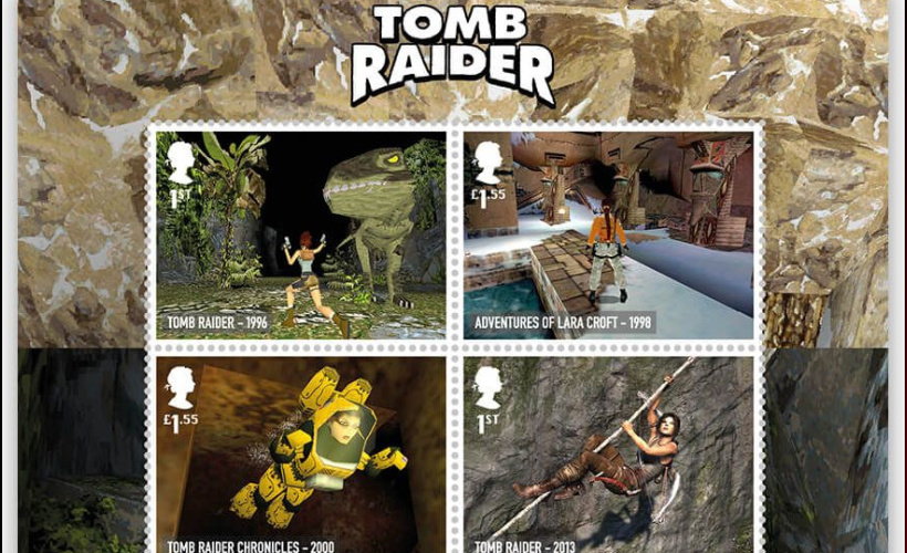 royal mail tomb raider stamps