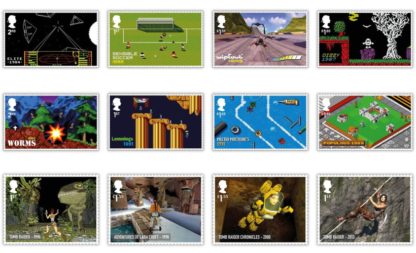 royal mail video game stamps