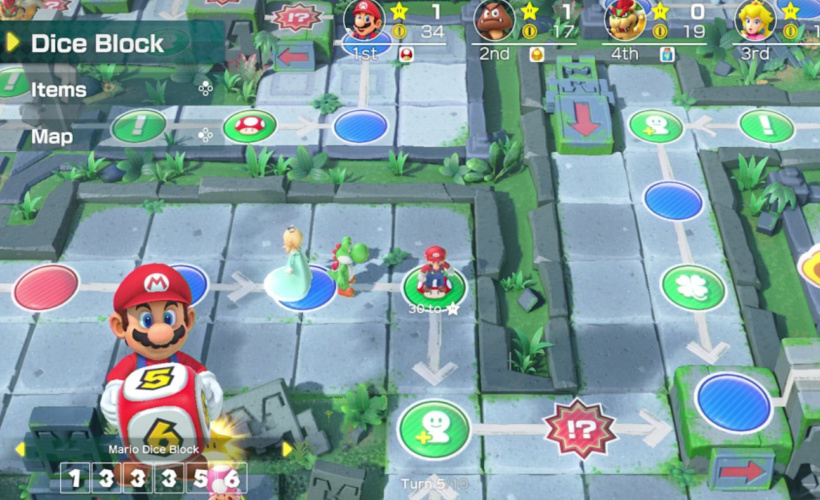 super mario party game board