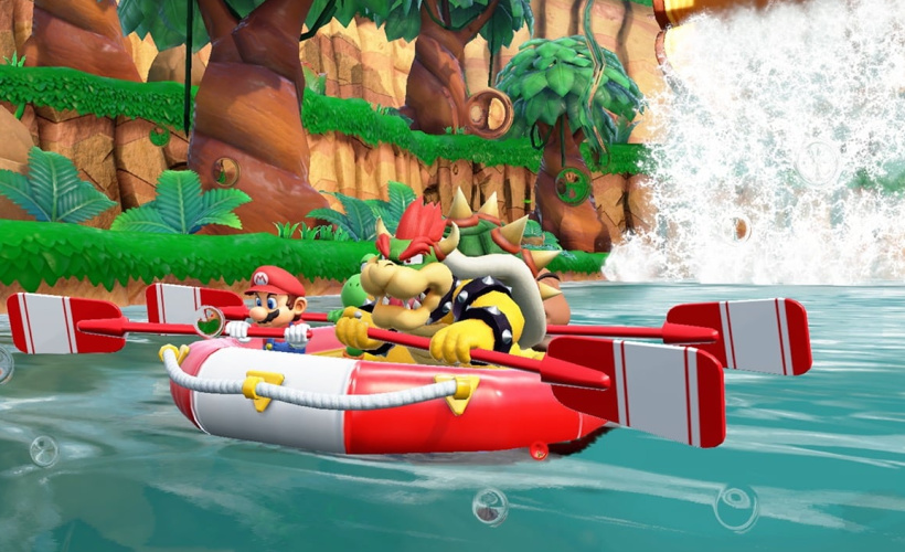 super mario party rafting