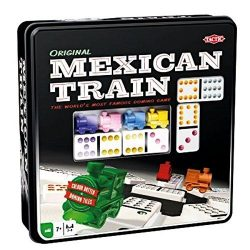 *B Grade* Mexican Train in Tin - 91 double 12 dominoes