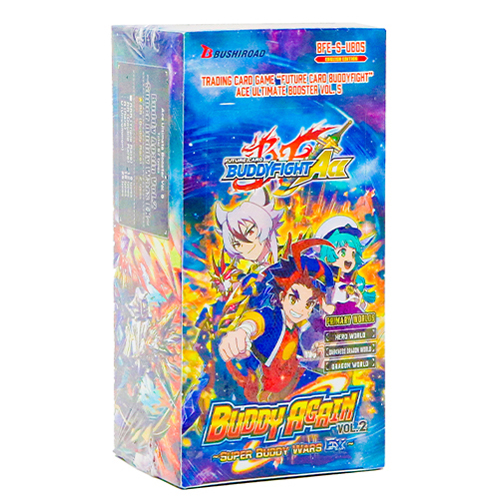 BFE Future Card Buddyfight Ace Ultimate Booster Vol. 5 Buddy Again Vol. 2 Super Buddy War EX Booster Box