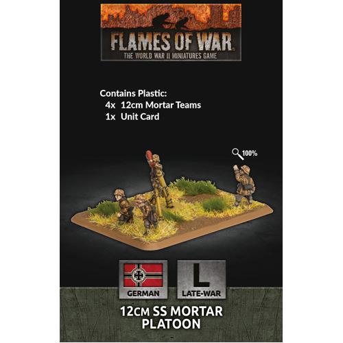 Flames of War: 12cm SS Mortar Platoon (x4 Plastic)