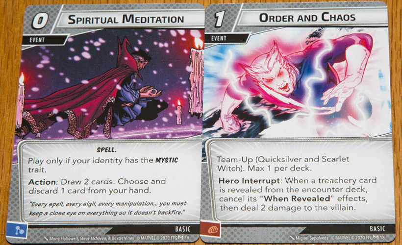 Marvel Champions Scarlet Witch Cards