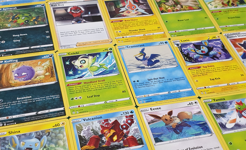 Pokemon shining fates elite trainer box cards