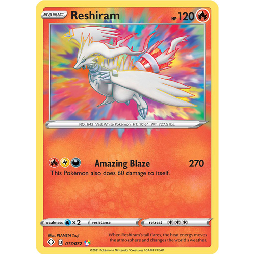 Pokemon TCG: Single Card - Shining Fates: Reshiram (Pack to Sleeve)