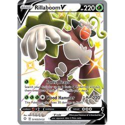 Pokemon TCG: Single Card - Shining Fates: Rillaboom V (Pack to Sleeve)