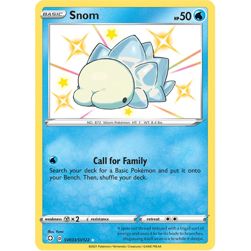 Pokemon TCG: Single Card - Shining Fates: Snom (Pack to Sleeve)