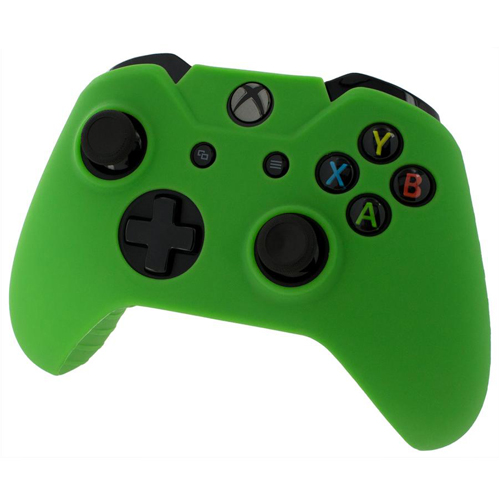 Pro Soft Silicone Protective Cover with Ribbed Handle Grip [Green] - Xbox One