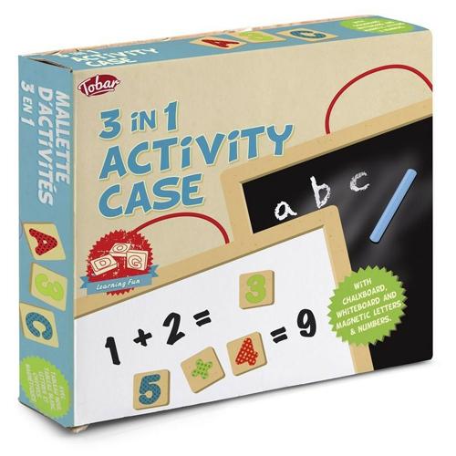 Wooden 3 in 1 Activity Case