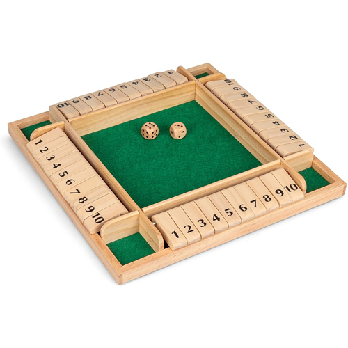 Wooden 4 Player Shut the Box Game